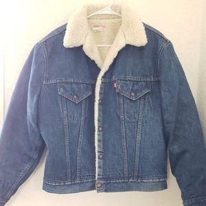 Levi's Vintage Fur Lined Denim Jacket